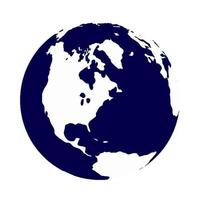 aarde, wereldbol geïsoleerd op wit. icoon. vector