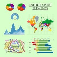 infographic elementen instellen kaart grafiek grafiekkleur