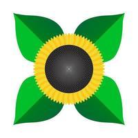 zonnebloem pictogram geïsoleerd stijlvolle egale kleur vector