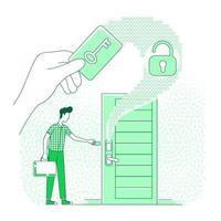elektronische sleutel voor deur vector