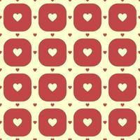 rode harten patroon vector
