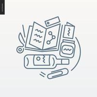 grafisch ontwerp geschetst pictogram