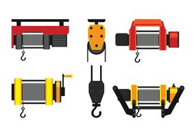 Set Winch Icons vector