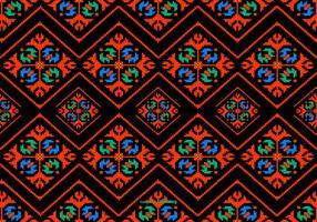 Kleurrijke Dayak Style Patroon Achtergrond vector