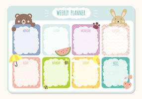 Printbare Weekplanner Agenda Sjabloon