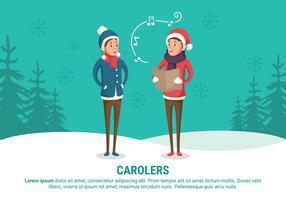 Carolers Vector Illustratie