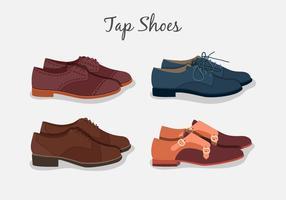 Tik op schoenen collectie vector