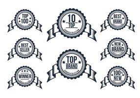 top 10 badge vector set