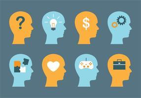 Mannelijke hersenen en mind-vectoren vector