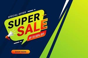super verkoop korting sjabloon voor spandoek vector