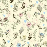 doodle bloemenpatroon delicate bloemen