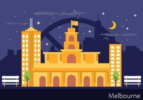 Melbourne Landscape Illustratie vector