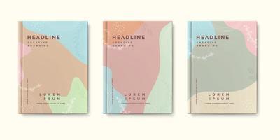 minimale aard boek omslagsjabloon