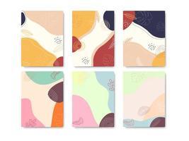 set van minimale kleurrijke ontwerpsjablonen voor natuuromslag