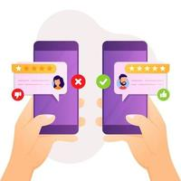feedback en review ontwerp voor klanttevredenheid vector