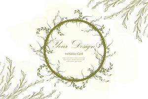 bladeren krans decoratie vector