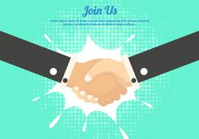Word lid van Handshake Template Background vector