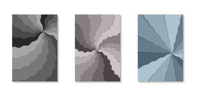 set pinwheel lagen papier gesneden covers