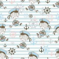 naadloze patroon met schattige zeeman jongens.