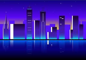 Nacht Van Melbourne Gratis Vector