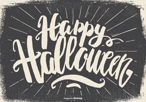 Oude Grunge Gelukkige Halloween Illustratie vector