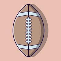 schattige rugbybal cartoon