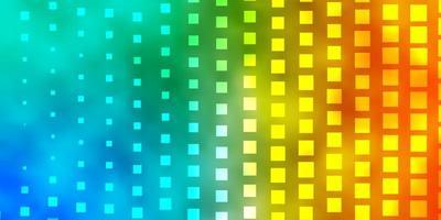 lichtblauwe, gele achtergrond met rechthoeken vector