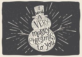 Gratis Vector Kerstman Sneeuwman