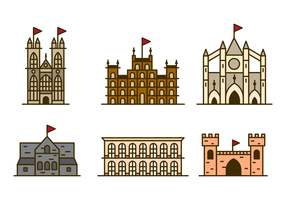 klassieke abdij gebouw vector