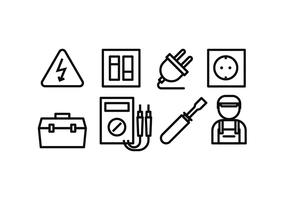 Elektriciteits Icon Set vector
