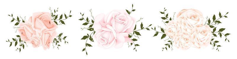 aquarel roos boeket set