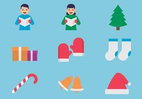 Kerstpictogram set