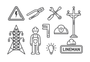 Lineman Pictogrammen Vector