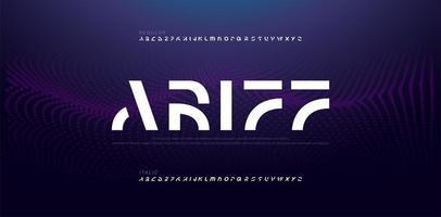 elektronisch toekomstig creatief lettertype