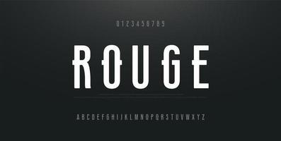 stedelijk modern lettertype met cijfers