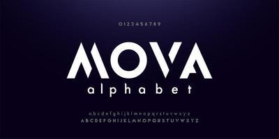 elektronische dansmuziek toekomstig creatief lettertype