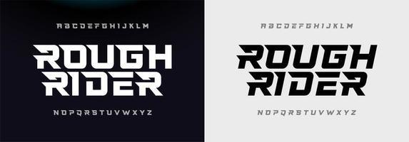 sport modern alfabet lettertype
