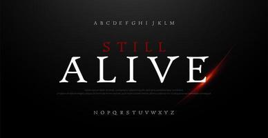 horror, enge film alfabet lettertype