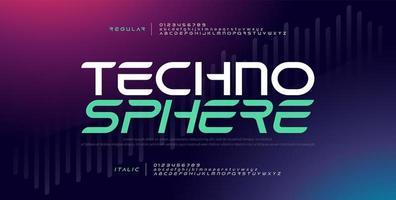 techno digitaal modern lettertype