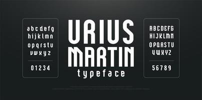modern gecondenseerd lang eenvoudig lettertype