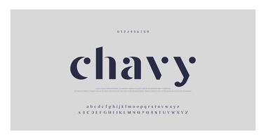 elegant minimaal modieus lettertype
