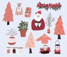 kerst cute cartoon elementen indoor decor set