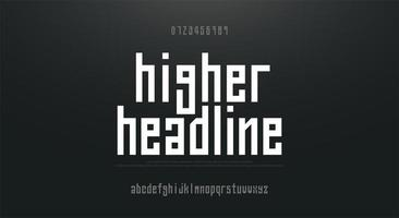 gecomprimeerd groot eenvoudig lettertype in kleine letters