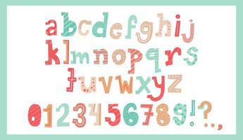 schattig kerst alfabet