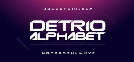 sport moderne technologie lettertype