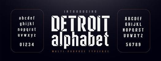 stedelijke moderne alfabet lettertype