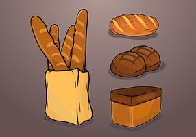 Brioche heerlijke broodjes vector