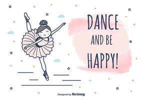 Dans En Wees Gelukkig Vector Achtergrond