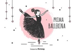 prima ballerina vector