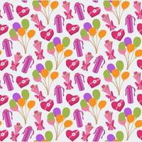naadloze schattige ballon en geschenken achtergrondpatroon